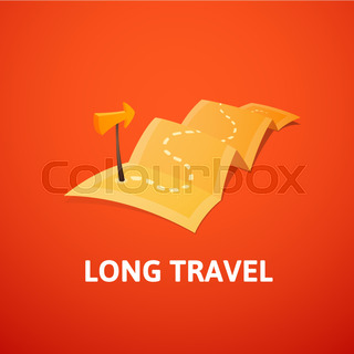 World tour concept logo long route in travel map with guide world tour concept logo long route in travel map with guide marker gumiabroncs Choice Image