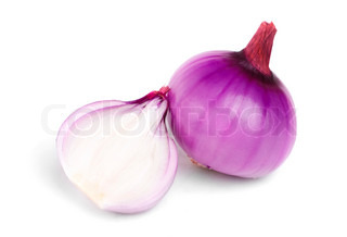 onion isolation on white background