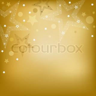 Baggrund med stjerner, Vector Illustration