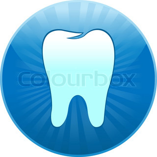 Icon Tooth, Isolated On White Background, Vector Illustration
