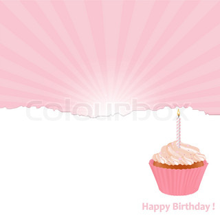 Birthday Card, Vector Illustration