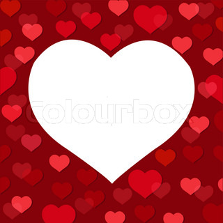 Abstract Heart, Composition For Themes Like Love, Valentine's Day, Vector Illustration