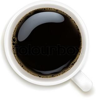 Kop kaffe isoleret på hvid baggrund , Vector Illustration