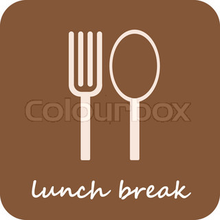 Lunch Break - isolated vector icon on light-brown background