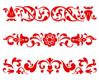 Traditional Russian Ornament in three versions in vector