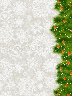 Thank you card on a elegant christmas background of snowflakes