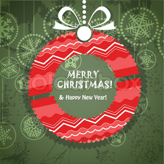 Vector of 'christmas, background, merry'