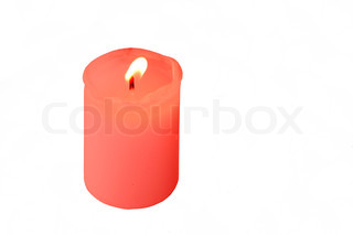 Isolated Candle light