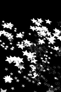 The black background whit silver stars