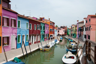 Colorful houses of Burano island, Italy