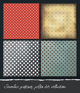 Polka dots backgrounds collection