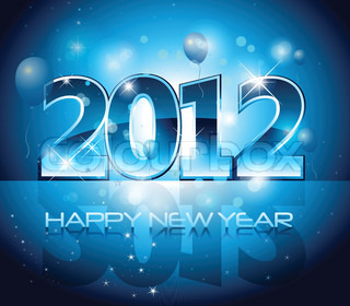 New Years design 2012 with back light and place for your text