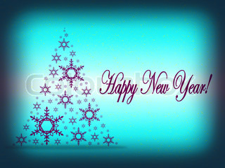 2012 Happy New Year greeting card or background