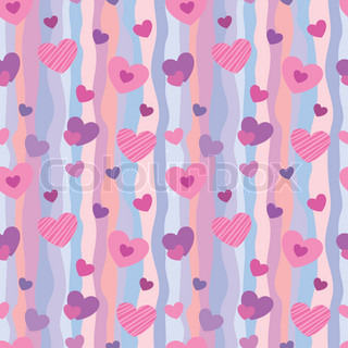 Seamless pattern with hearts for Valentine's Day backgrounds