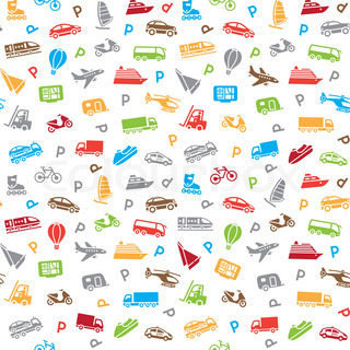 Seamless transports pattern, wallpaper