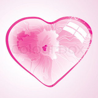 Abstract background with pink beautiful floral heart