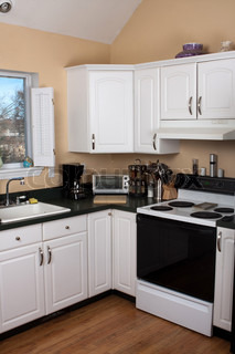 Modern kitchen countertop and appliances