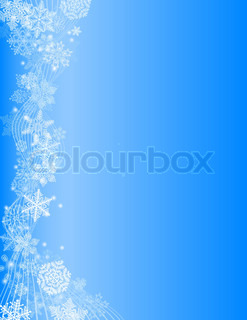 Abstract blue Christmas Background with white Snowflake