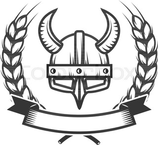 knight helmet with two swords isolated on white background design