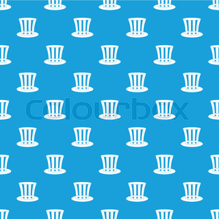 uncle sam hat pattern seamless background in flat style repeat