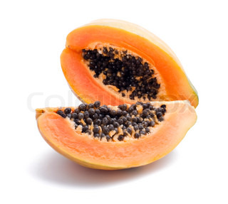 Rape papaya isolated on the white background