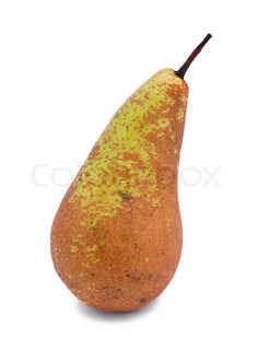 Ripe pear conference isolated on the white