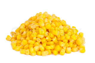 canned corn isolated on white background