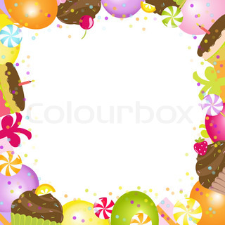 Birthday Frame, Isolated On White Background, Vector Illustration