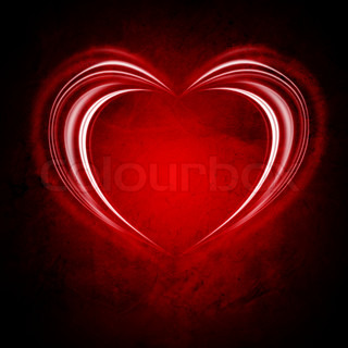 glowing Valentine backround with heart and stars