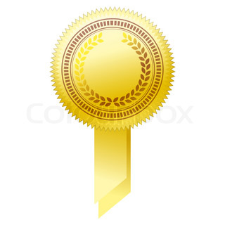 Gold seal - Illustration for your design. | Vector | Colourbox