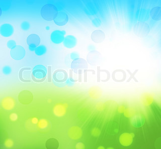 Fresh nature abstract spring background with bokeh light