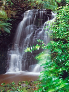 Horseshoe falls of the Catlins,South Island,New Zealand