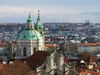 St. Nicolas Church and Prague bird eye view, Czech Republic