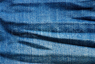Macro blue jeans background