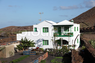 Traditional house on Canary Island Lanzarote, Spain