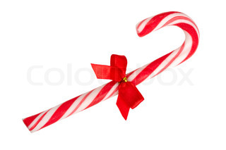 candy cane isolated on a white background