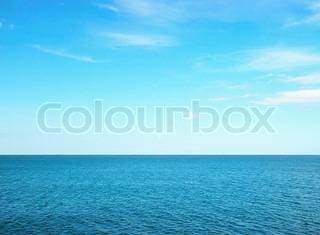 Beautiful sea on sunny day with blue sky
