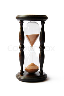 old antigue wooden sand clock