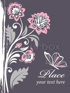 vector floral background with decorative flowers for design