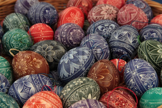 Painted traditional Easter Eggs