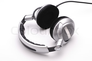 Unbranded headphones on a white background