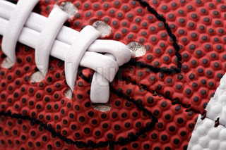Detail of american football ball, close-up shot