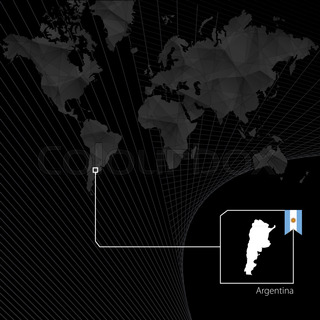Vector political map of argentina with regions on a white background argentina on black world map map and flag of argentina gumiabroncs Choice Image