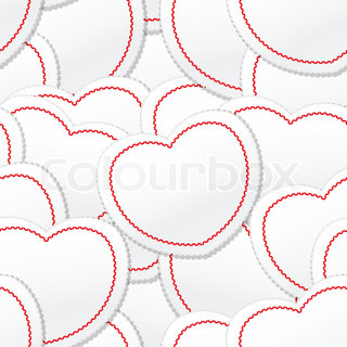 Valentine seamless background of white and red hearts