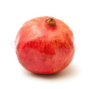 photo of pomegranate on white background