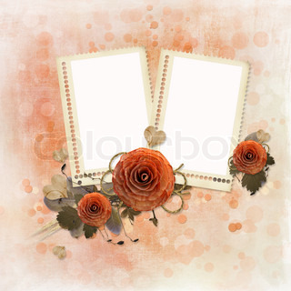 photo frames and wooden roses