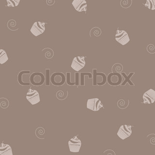 Cake Background, Vector Illustration