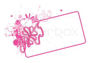 A horizontal valentine card with a decorative bow