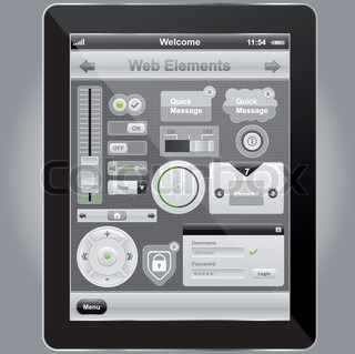 Vector of 'web, elements, interface'
