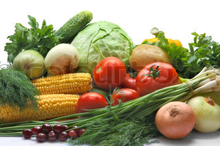 group of vegetables and fruits